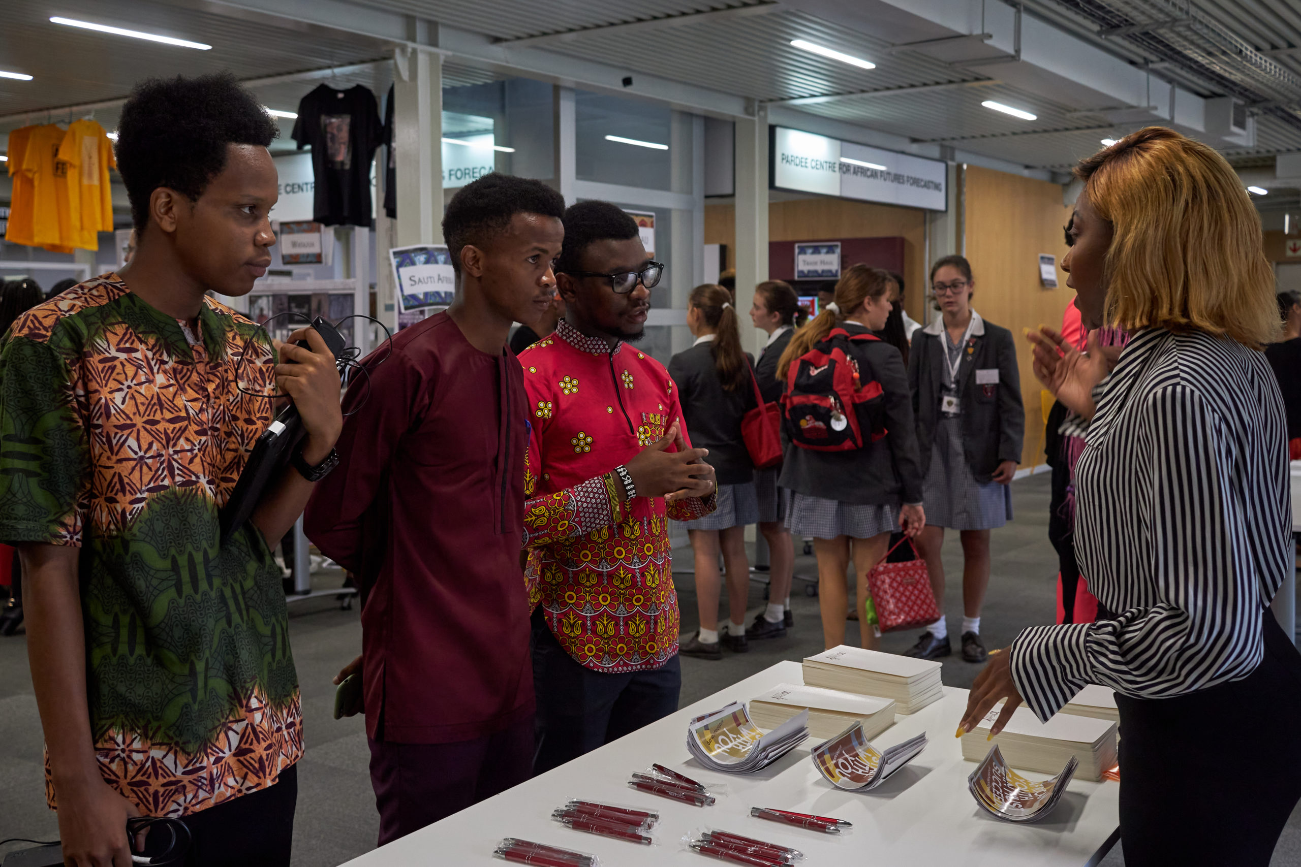 Students at African Leadership Academy Enterprise Festival